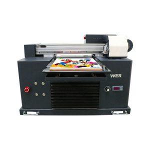 a3-storlek fullautomatisk 4 färg dx5 skrivarhuvud mini UV-skrivare dtg uv flatbe