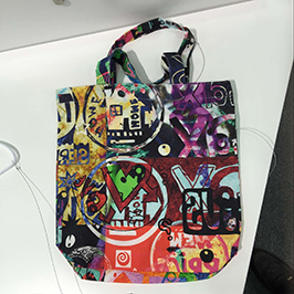 Utskriftsprov av non-woven väska med A1 digital textilskrivare WER-EP6090T